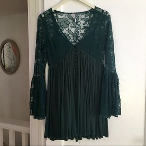 Free People With Love From India Dress in Green XS